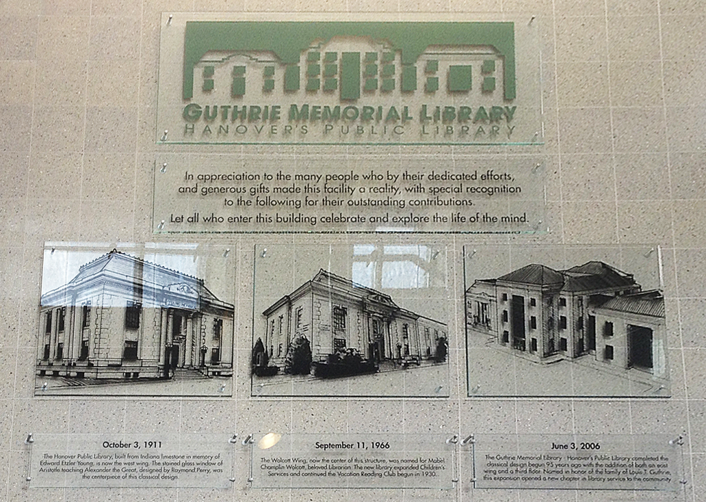 Guthrie Memorial Library wall art