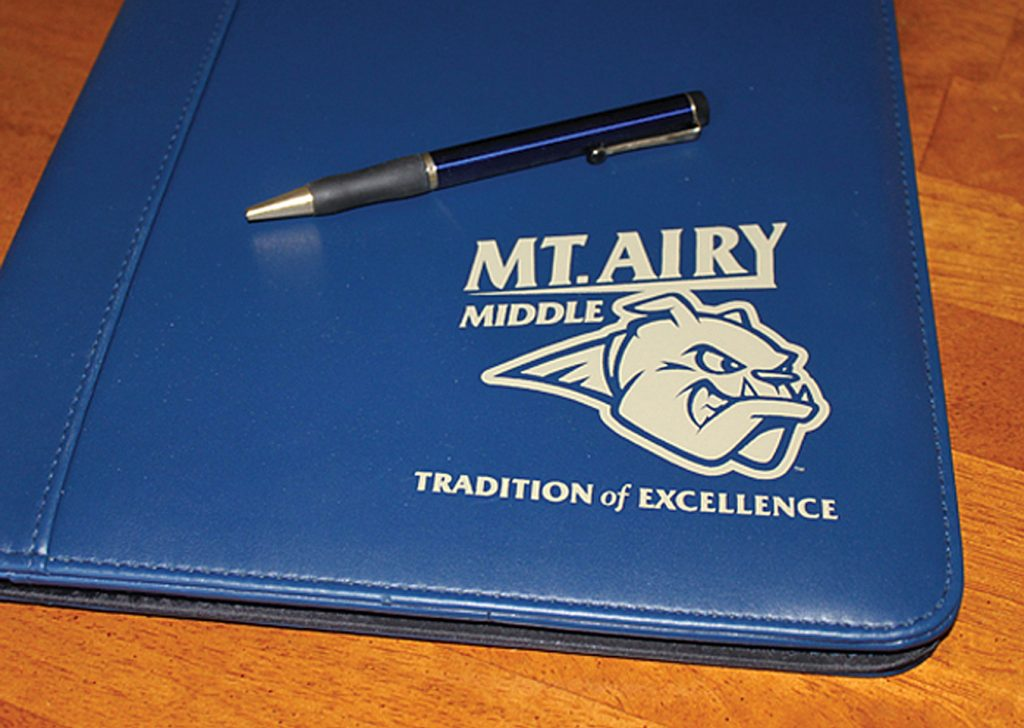 Mt Airy Middle School pad folio