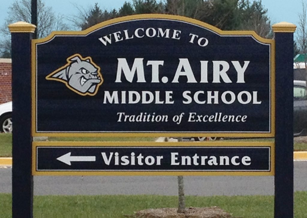 Mt Airy Middle School sign
