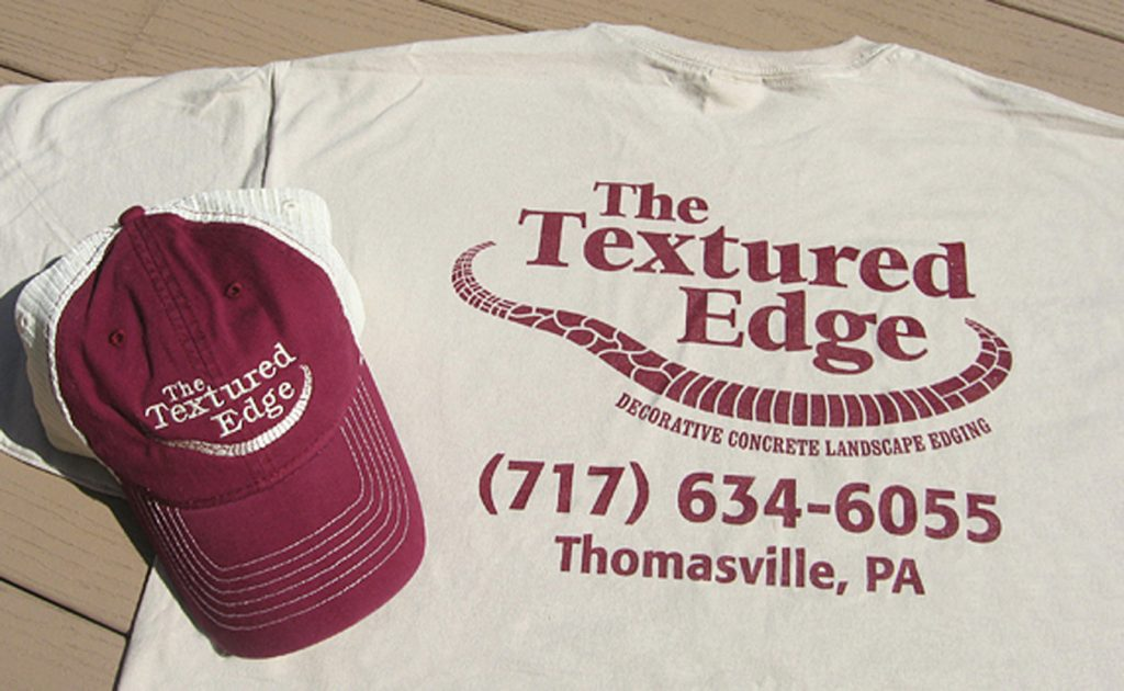 Textured Edge hat and t-shirt
