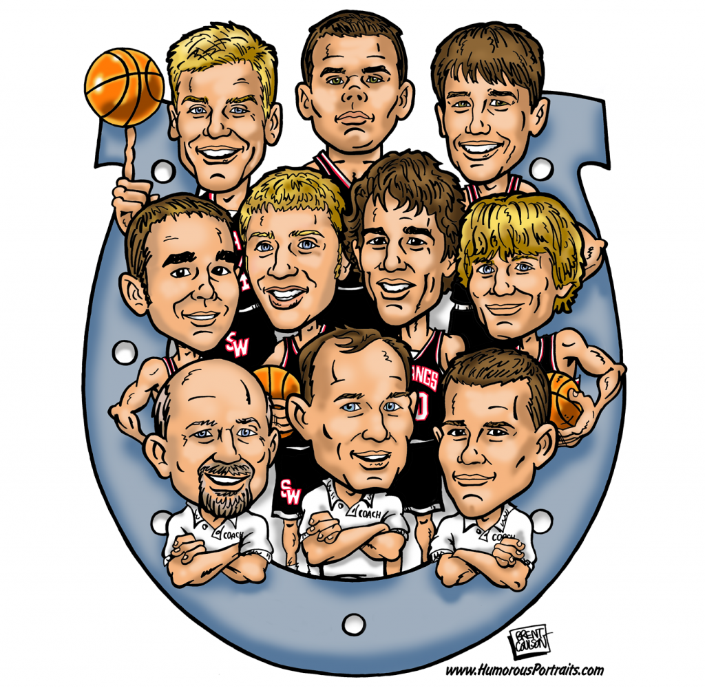 Basketball Team Caricature