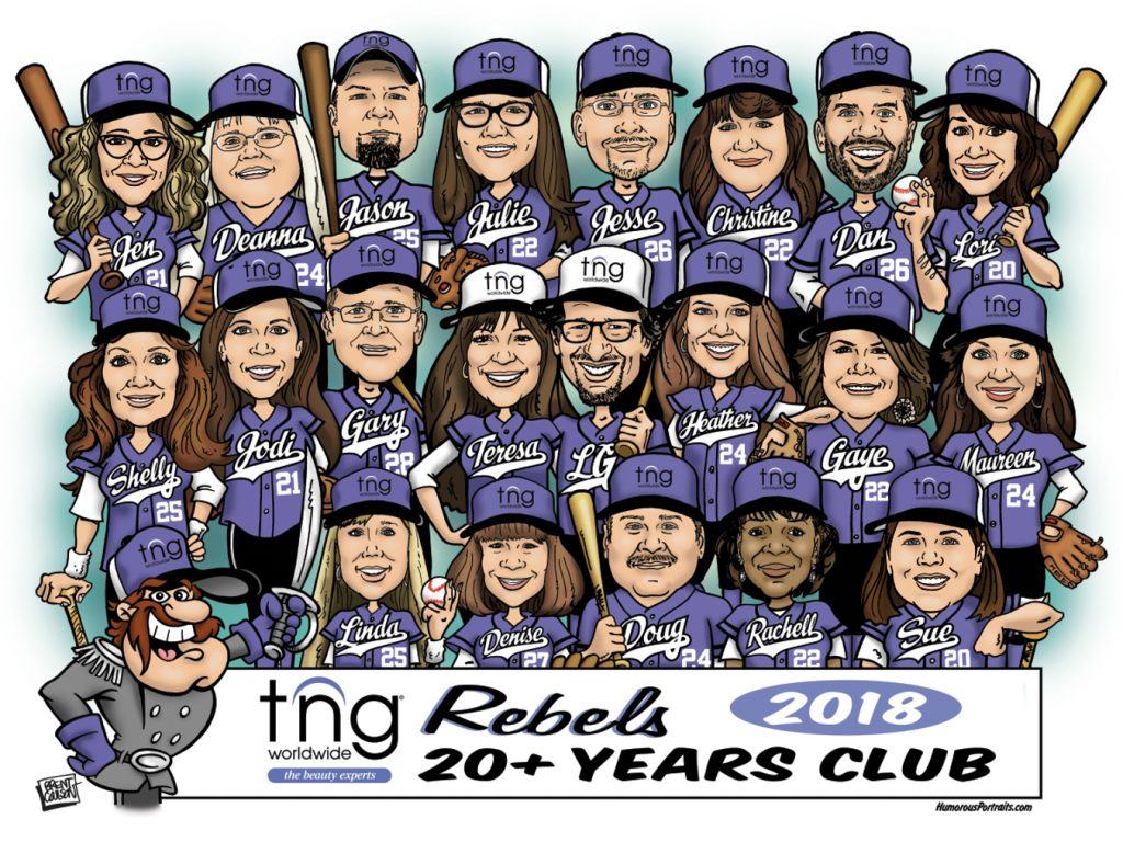 Group Employee Caricature